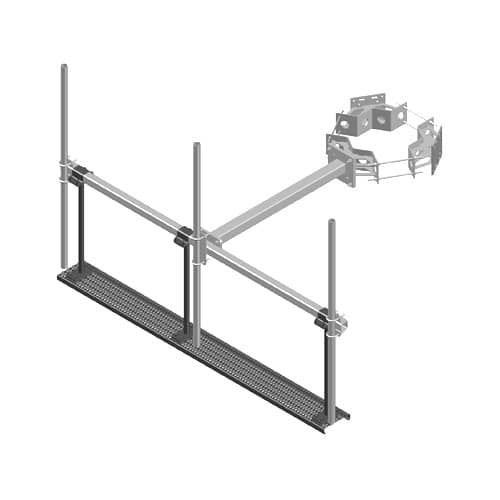Square T-Arm Work Platform Assemblies